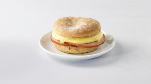 Starbucks new food offering: Gluten-free smoked Canadian bacon and egg sandwich.