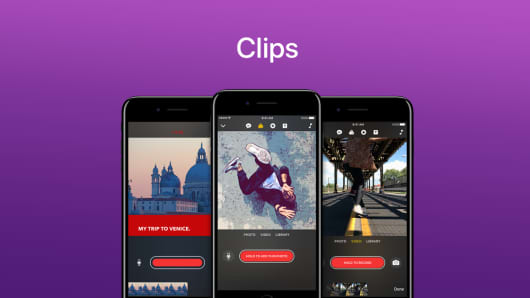Apple introduces Apple Clips.