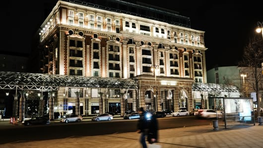 The Ritz-Carlton Moscow, which Yusuf Sarimsakci helped oversee.