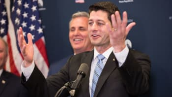 Paul Ryan, speaker of the House, speaks during a GOP healthcare briefing after their weekly meeting on Capitol Hill, in Washington, DC, on Tuesday, March 21, 2017.