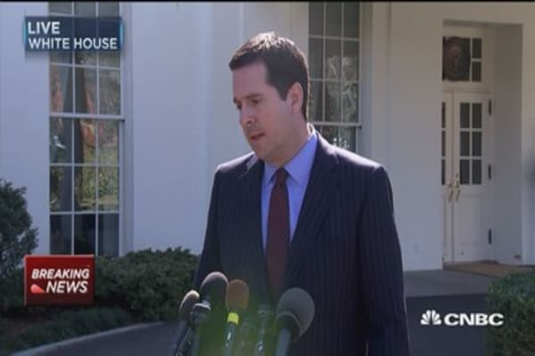 Image result for nunes press conference white house
