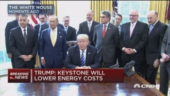Trump: Keystone will lower energy costs