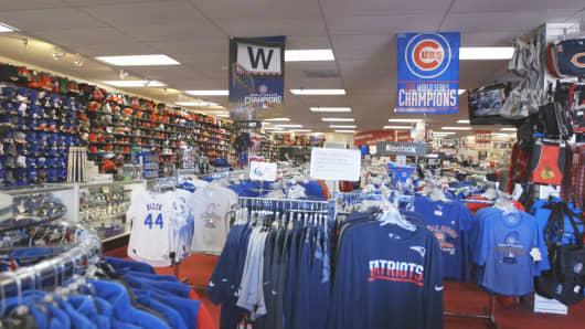 The store's interior.