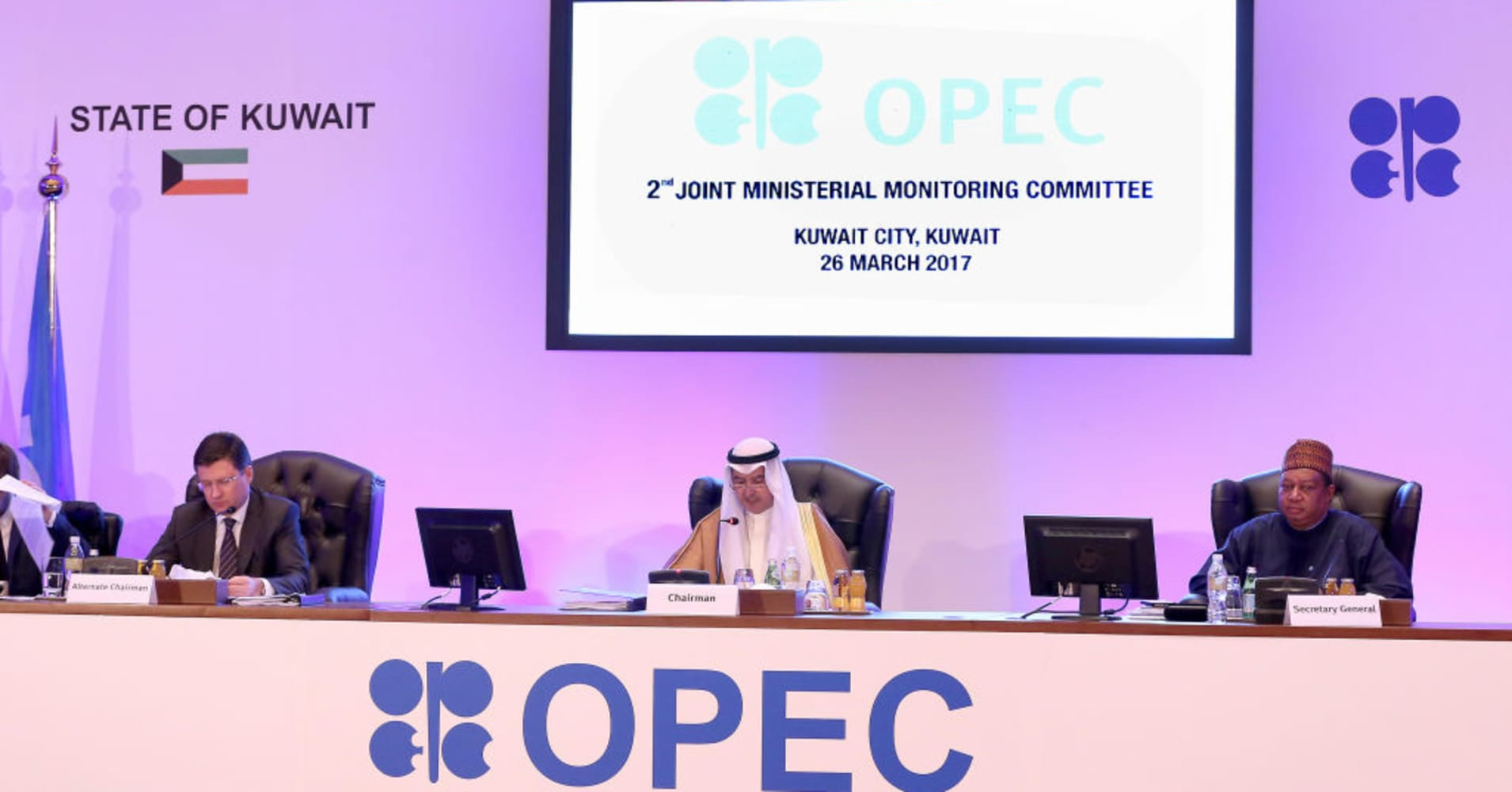 OPEC, non-OPEC oil producers meet in Kuwait over output-cut compliance