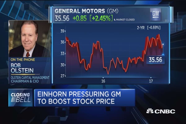 Pro: GM heading north, no need for financial engineering