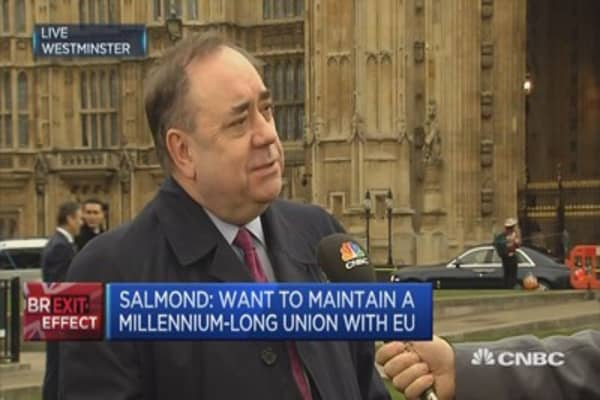 Scotland wants to maintain a millenium-long trading relationship with Europe: SNP