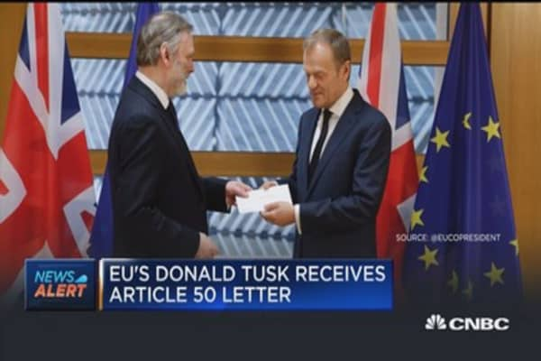 United Kingdom officially invokes Article 50 to trigger Brexit