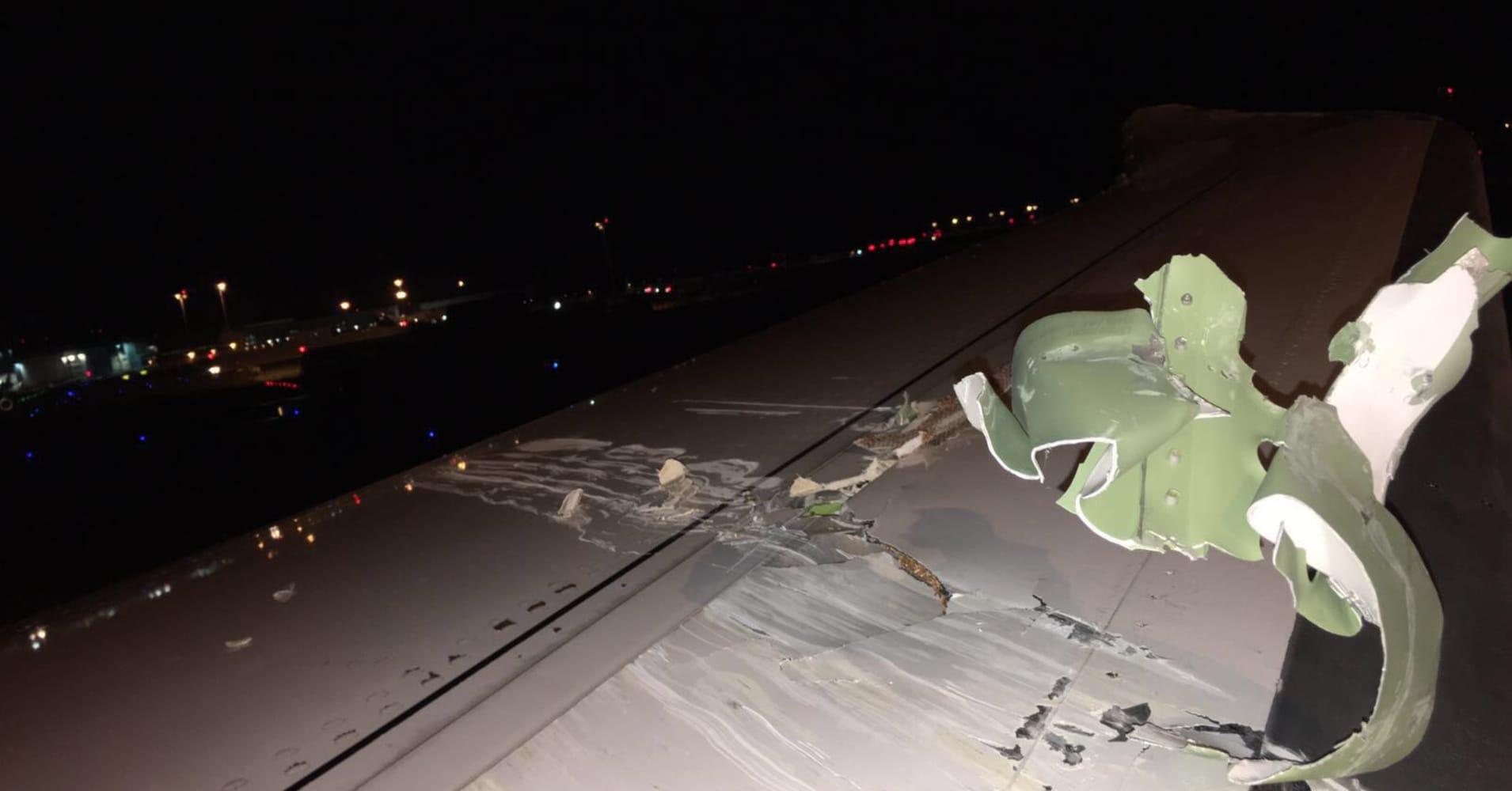 Aircraft impact at Singapore's Changi Airport