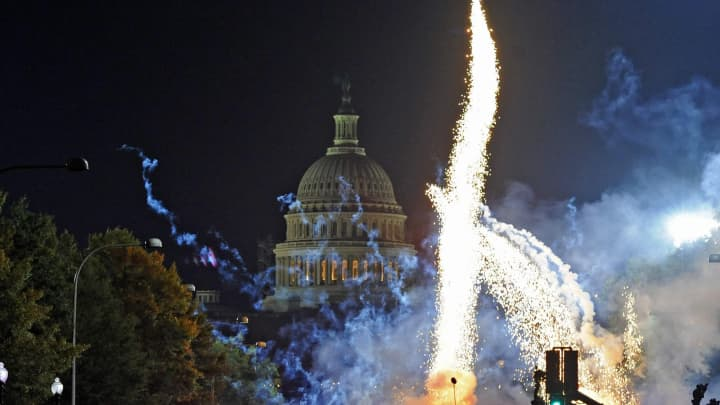 Capitol Building fireworks