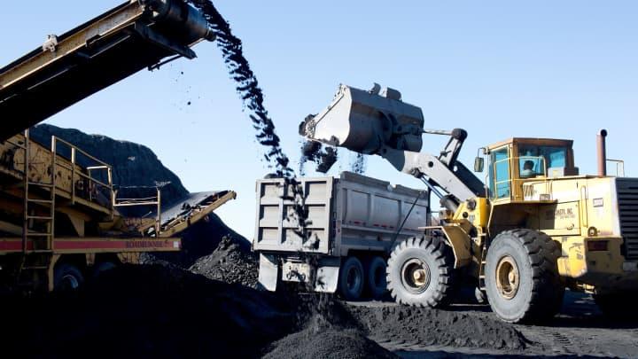 Coal mining in Schuylkill County, Pennsylvania.