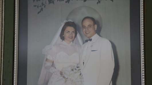 Sandra Baxter with her husband Marvin.