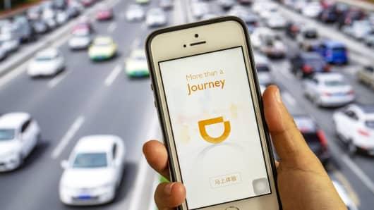 Ride sharing app of Didi Chuxing.