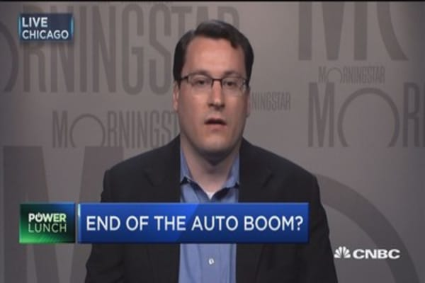 End of the auto boom?