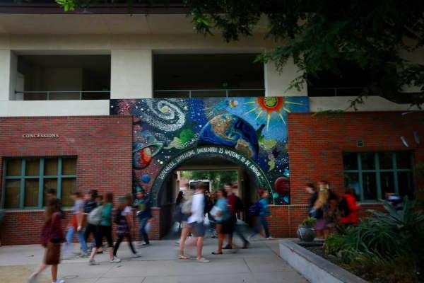 Murals adorn walls around campus at Coronado High School.