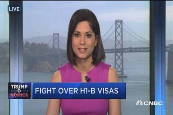 Reports of 'targeted vists' cracking down on H1-B visas