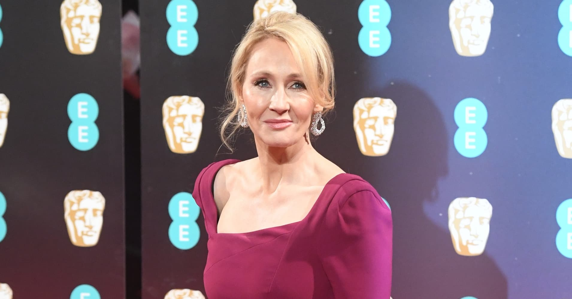 JK Rowling attends the 70th EE British Academy Film Awards (BAFTA) at Royal Albert Hall.