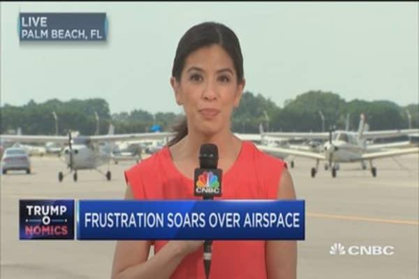 Trump's Mar-a-Lago visits hurt flight school business