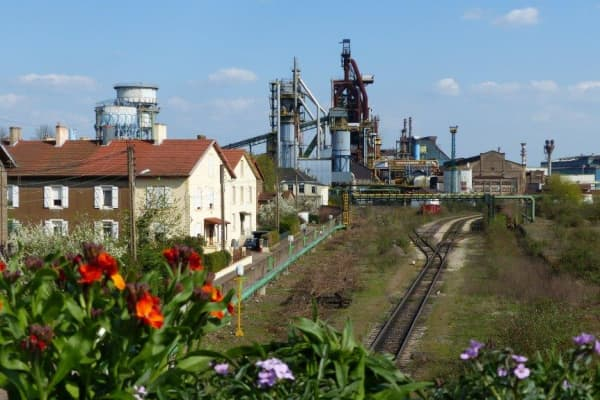 An ArcelorMittal factory in Hayange, France.