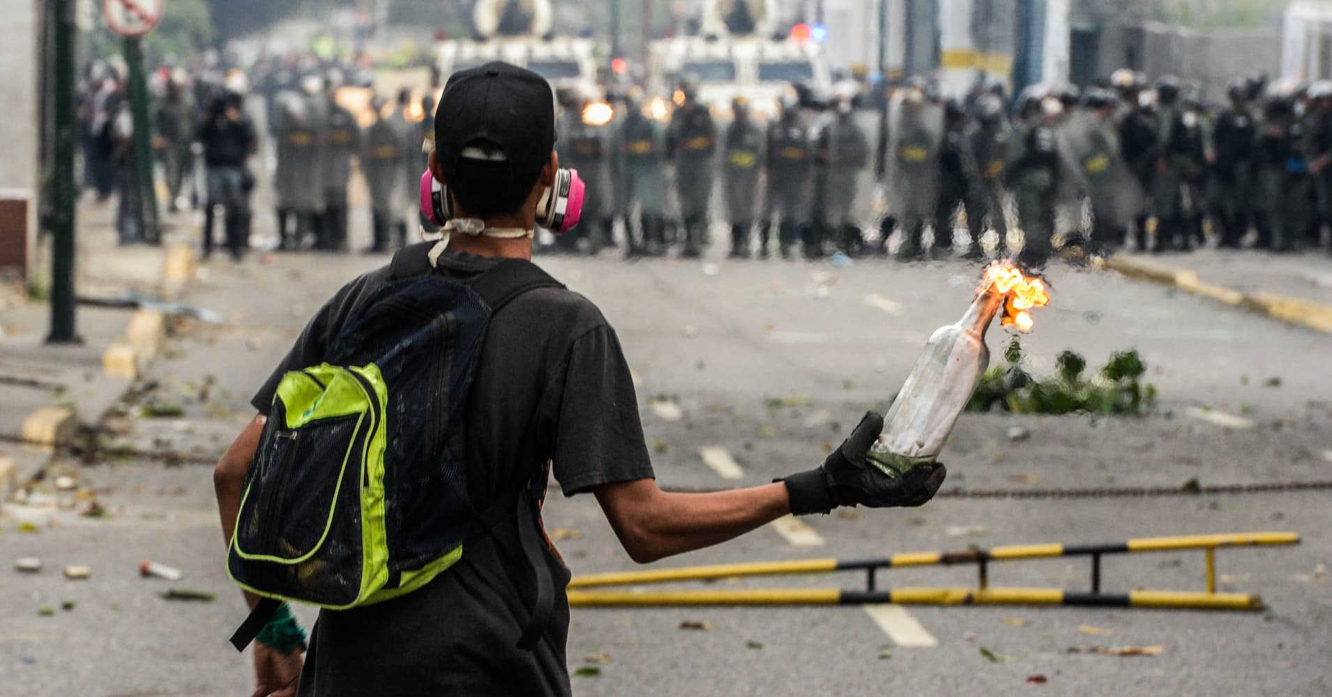 Clashes in Caracas as anti-Maduro protesters take to the streets
