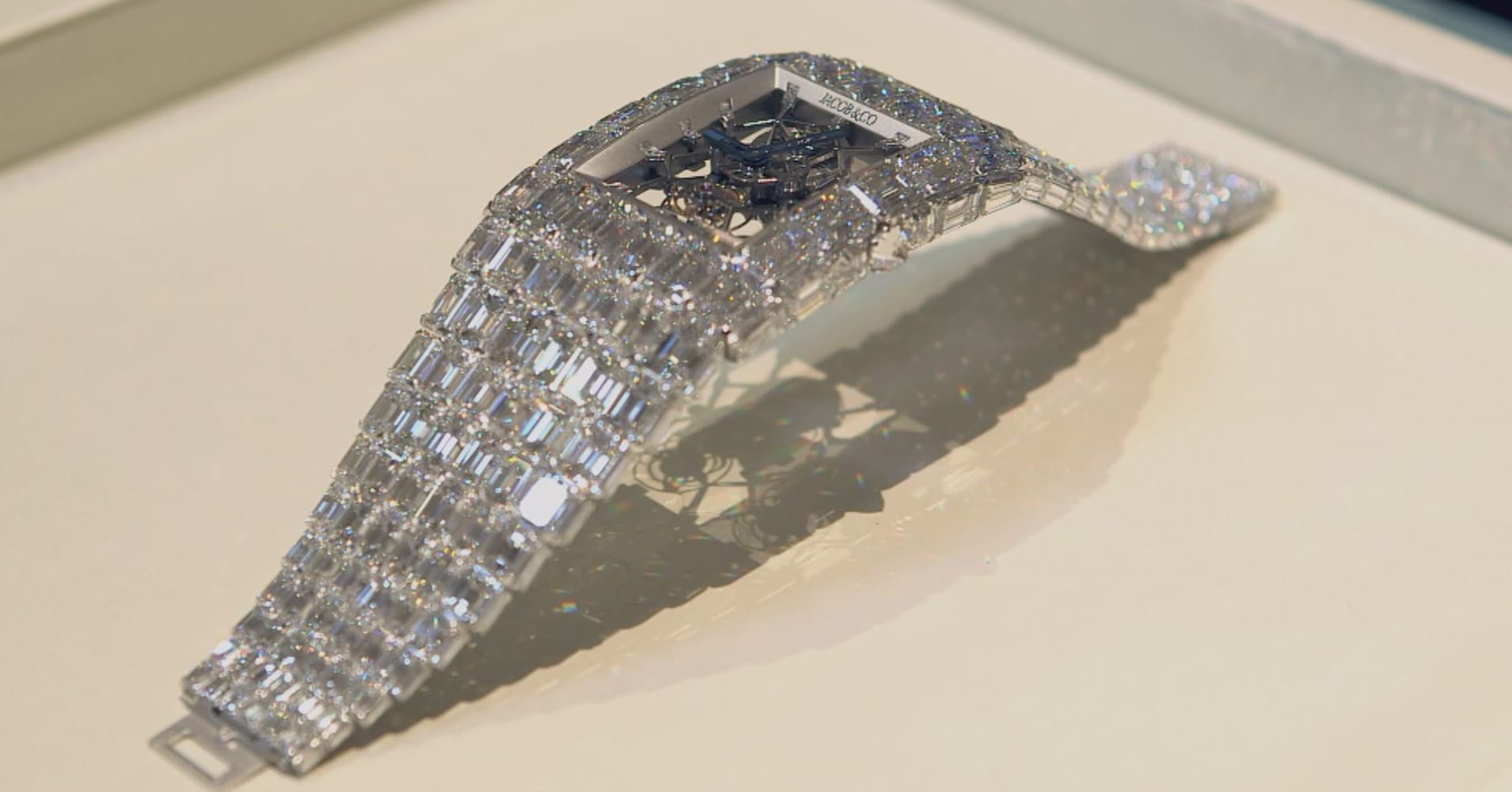 """""""The Billionaire"""" wristwatch made by Jacob & Co is decked out in 260 carats of diamonds and comes with an $18 million price tag."""