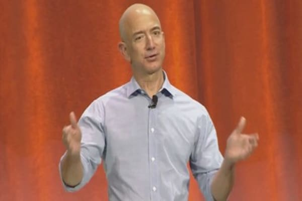 Amazon's Jeff Bezos draws a line between what he calls Day One and Day Two companies