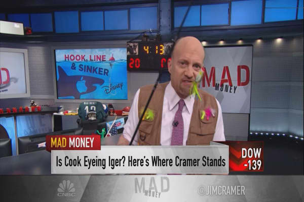 Cramer: Like 'The Lion King,' an Apple-Disney merger is fiction