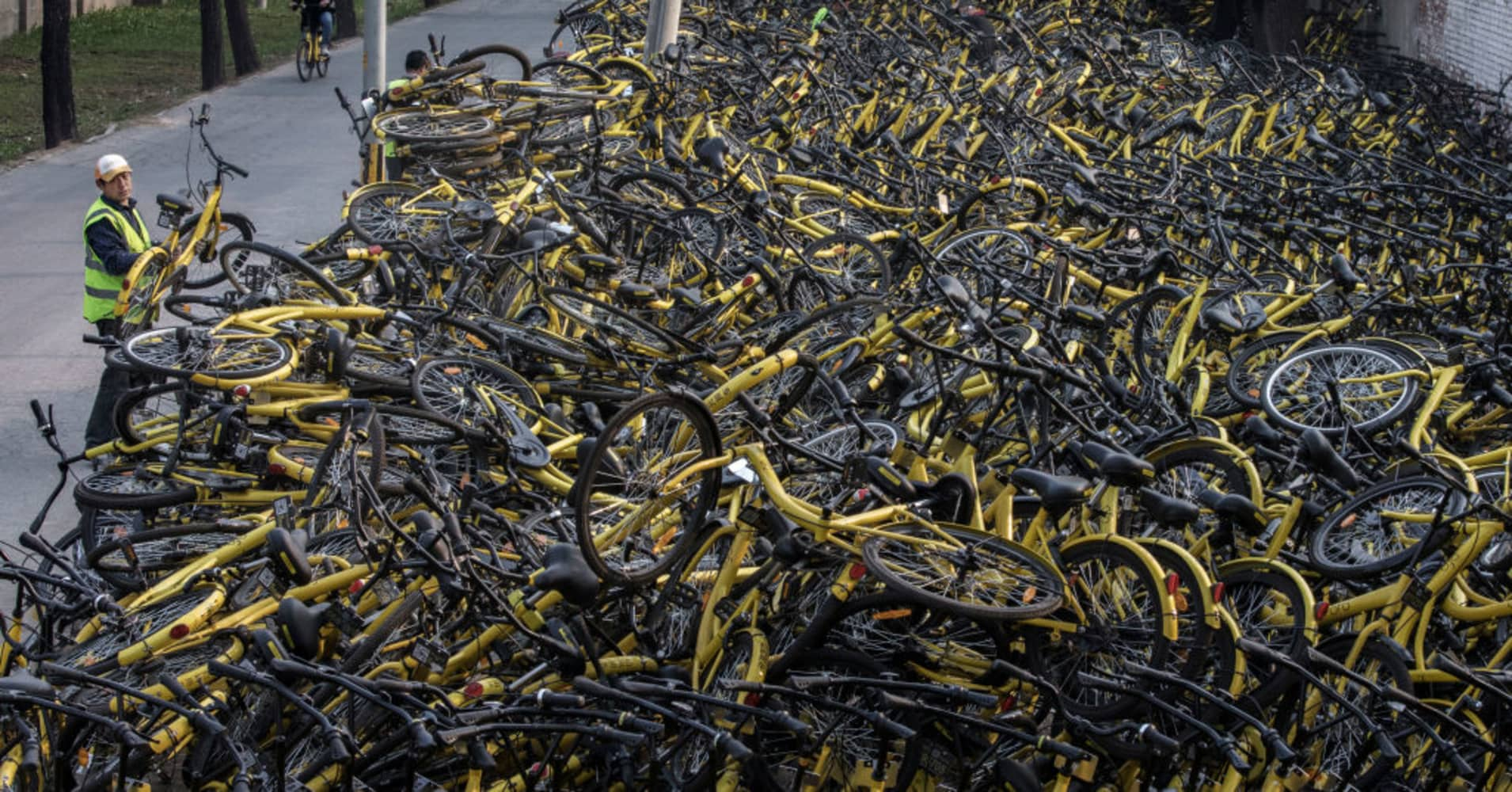 Ofo, Chinese bike-sharing start-up, says it's now worth more than $2 billion