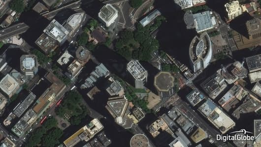 DigitalGlobe's WorldView-3 super-spectral 30-cm imagery allows for fast and precise mapping of various features anywhere in the world. (Pictured here: Sydney)
