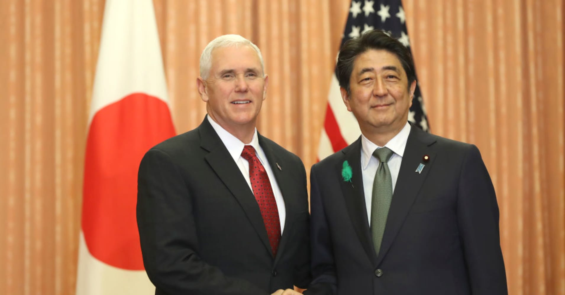 Pence says US will work with Japan, allies to find peaceful North Korea solution