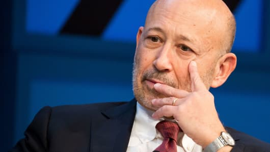 Goldman Sachs shares fall as profits up less than expected