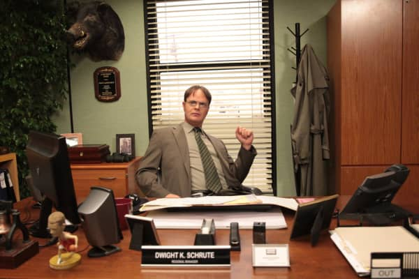 """Dwight Schrute, fictional character on NBC's """"The Office,"""" spent years trying to get a promotion."""