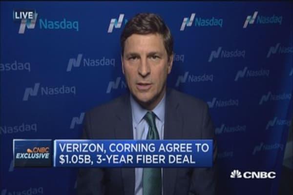 Verizon & Corning agree to $1.05B, 3-year deal