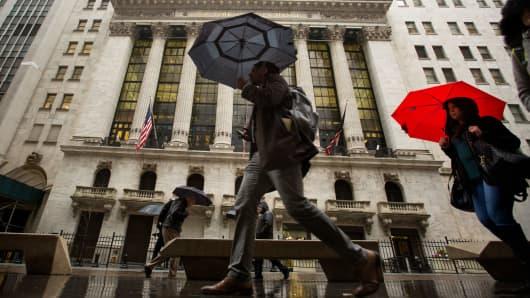 The New York Stock Exchange, on Wall Street