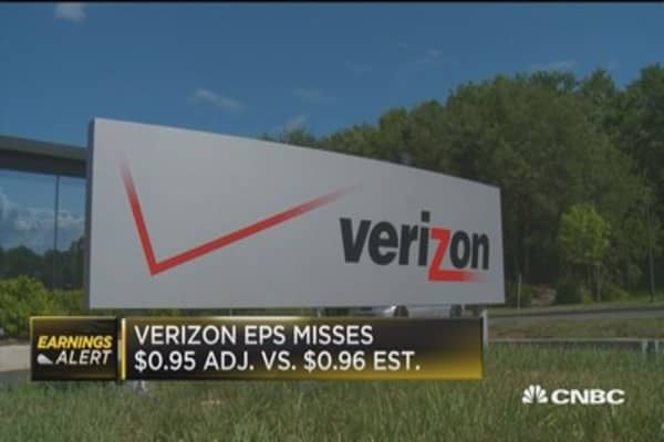 Verizon Q1 misses on top and bottom line