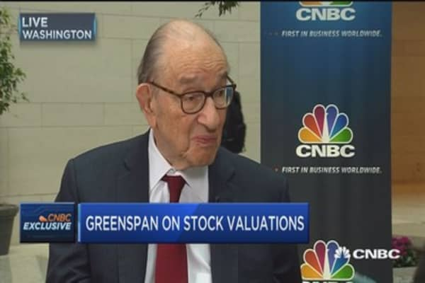 Greenspan: 'Fear dominates euphoria' in markets