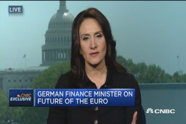 German finance minister on rise of Euroskepticism