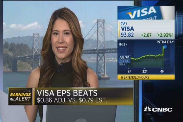 Visa beats on top & bottom lines