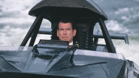Pierce Brosnan as 007 in the James Bond film 'The World Is Not Enough,' 1999.