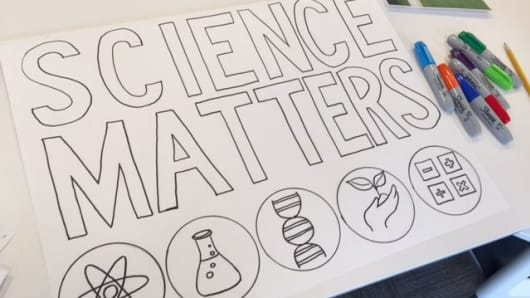 A poster made by an Alnylam employee for this weekend's March for Science.