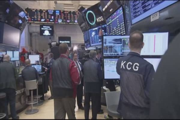Stocks ended Monday's session sharply higher