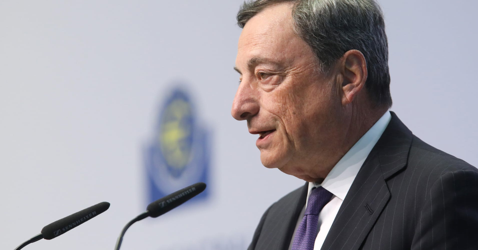 Watch: ECB chief Mario Draghi discusses easing, the euro and politics