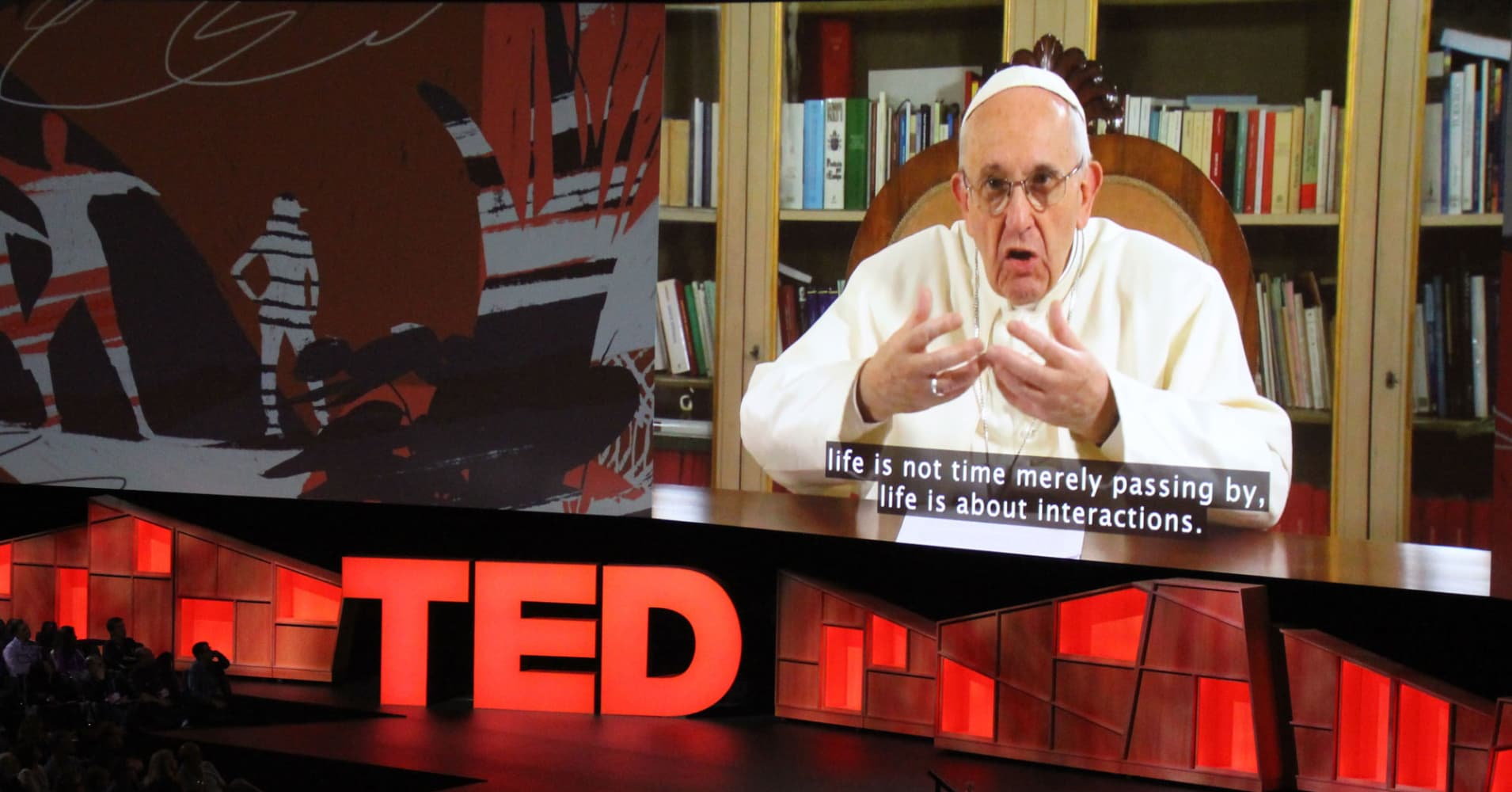 Pope Francis warns in TED talk: 'Power can ruin you'