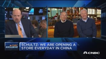 CNBC PRO: Howard Schultz and Kevin Johnson