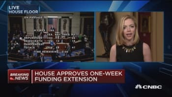 House approves one-week funding extension