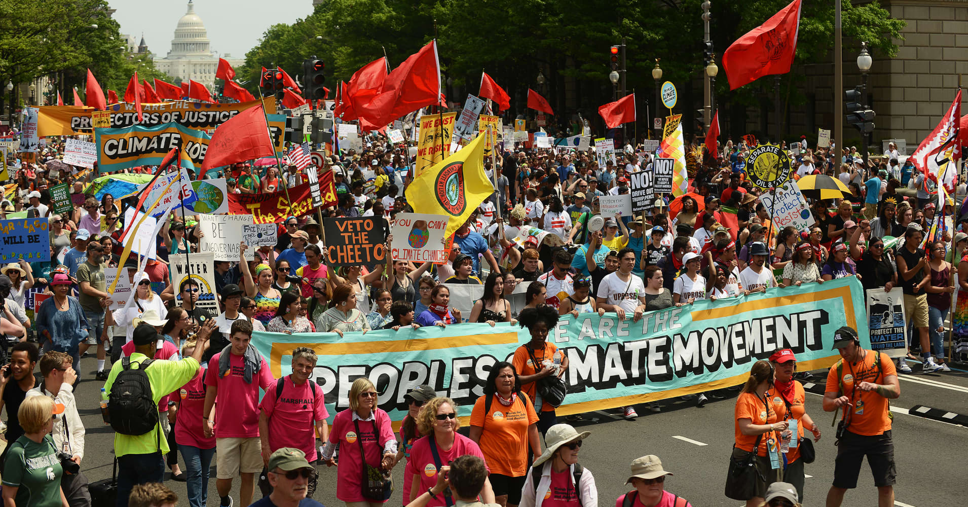 Thousands take to the streets to demand action on climate change