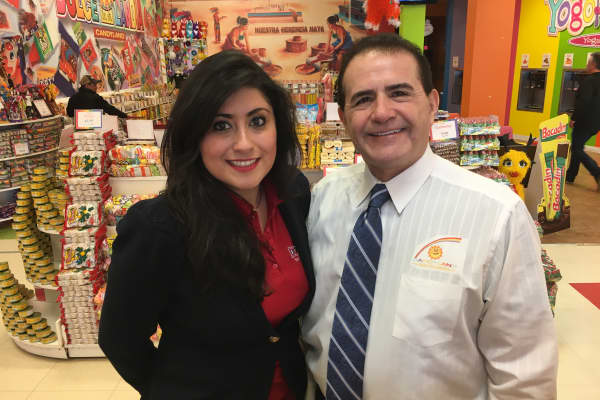 Eduardo Rodriguez launched his business Dulcelandia, selling candies from his native country, Mexico, in the 1990's after NAFTA was approved. His daughter, Eve Rodriguez Montoya has expanded on the concept launching Yogolandia, featuring healthy frozen yogurts with a Mexican twist.