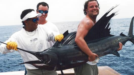 Turney Duff and his marlin.
