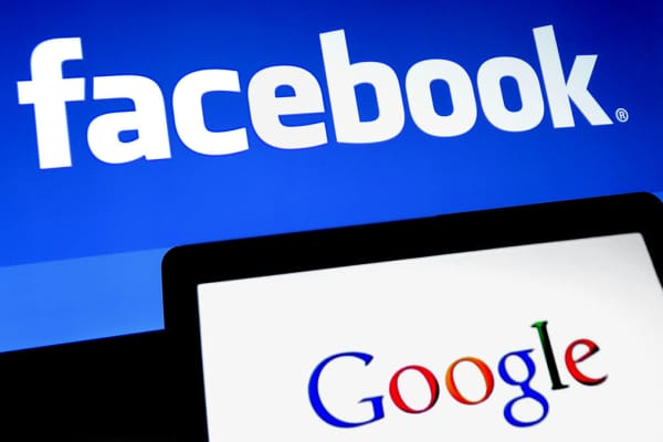 Facebook and Google logos