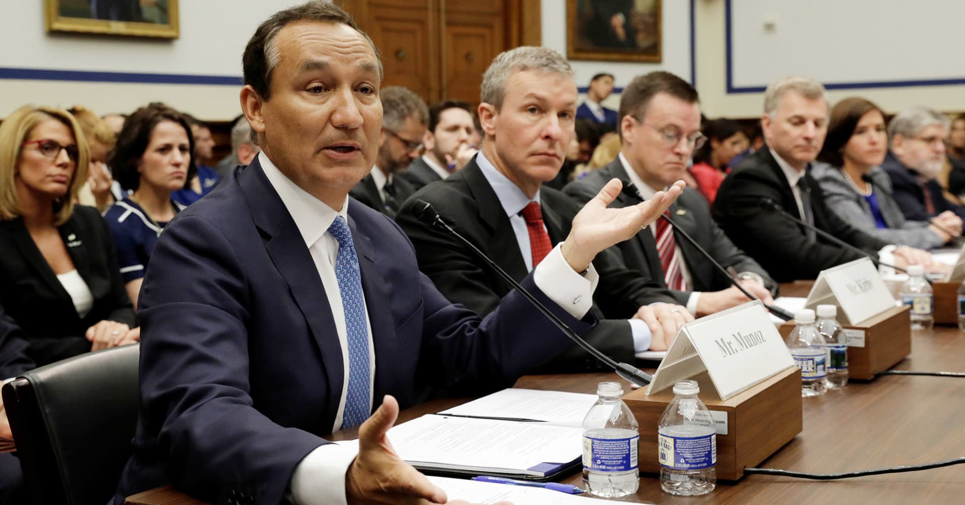 United CEO testifies to angry lawmakers: 'I have spent every day thinking about how we got here'