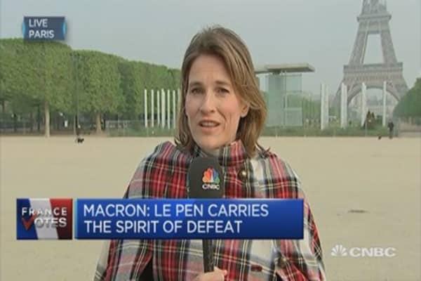 Macron: Le Pen carries the spirit of defeat